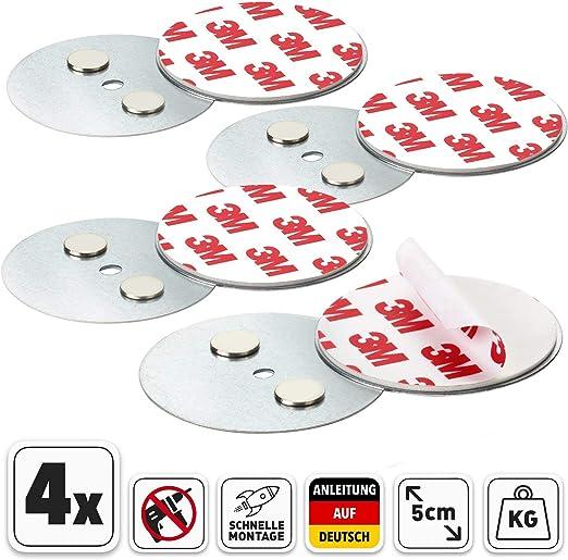 Montageset für Rauchmelder Ø 6cm Magnet Magnet-Platte Magnet-Halter Feuermelder