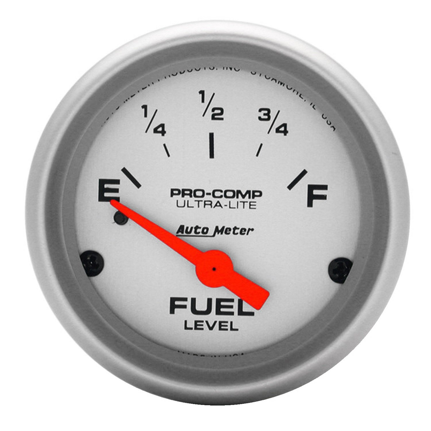 Auto Meter 4317 Ultra-Lite 2-1/16' 0 E/30 F Short Sweep Electric Fuel Level Gauge for Pre '65 GM