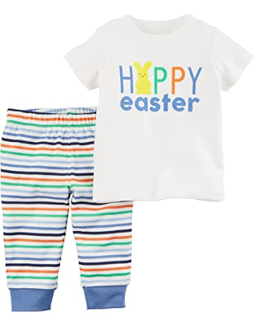 2be3a298587 Carter s Baby Boys  0M-24M 2 Piece Easter Top and Pants Set