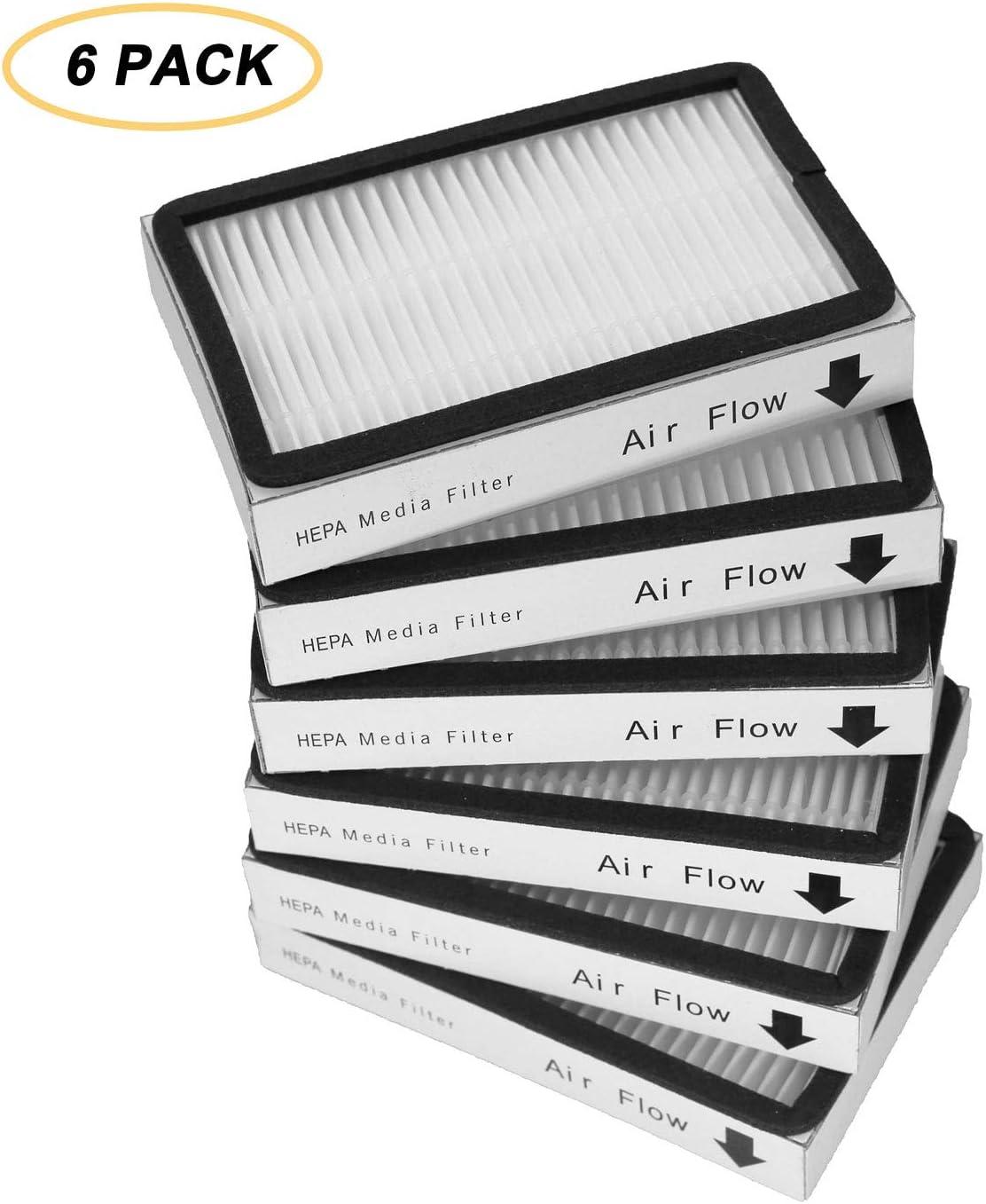 IOYIJOI 6 Pack Exhaust Vacuum 86880 Hepa Filters for Kenmore EF-2, 86880, 20-86880, 610445 Sears Vacuum Cleaners, Panasonic (MC-V194H)