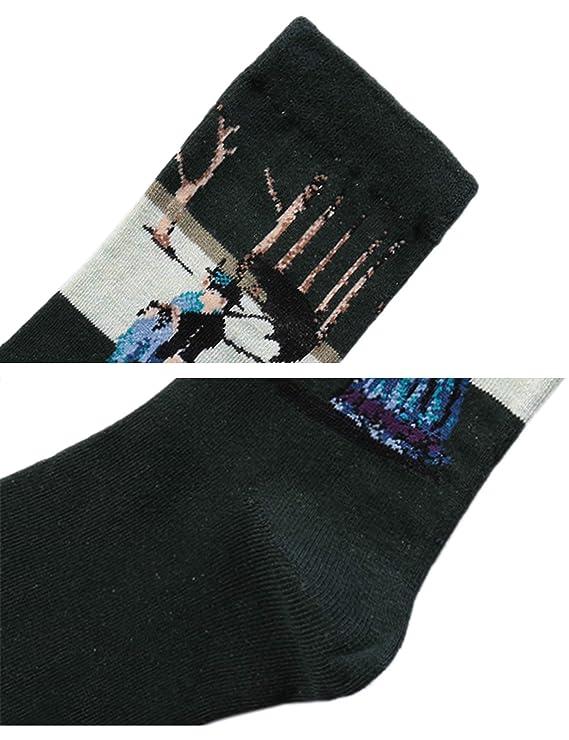 Aibrou Calcetines Mujer/Hombre Ocasionales Divertidos Impresos de Algodón de Pintura Famosa de Arte Calcetines Pack 4/6 (Multicolor-1): Amazon.es: Ropa y ...