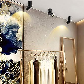 Budbuddy 12W Focos de techo / Foco LED / lámpara de focos / Luz de techo led / Foco LED para techo / lámpara de techo LED regulable(Negro / blanco cálido): Amazon.es: Iluminación