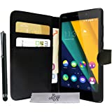 Etui Housse Luxe Portefeuille Wiko Pulp Fab 4G + STYLET et 3 FILM OFFERT!!