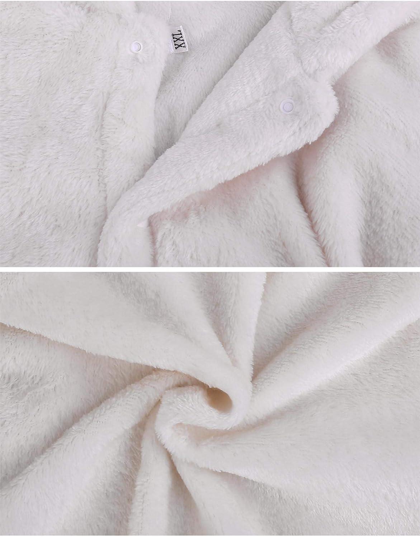 Sykooria Unisex Baby Onesie Hooded Jumpsuits Fleece Winter Romper Warm Thick Cute Reindeer Pajama