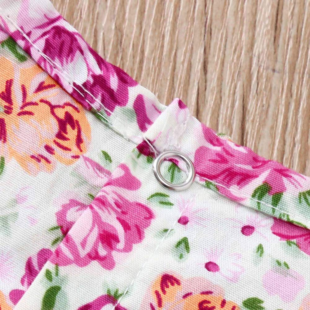 6M-24M Newborn Baby Girls Floral Print Romper Jumpsuit+Headband Casual Set Clothes