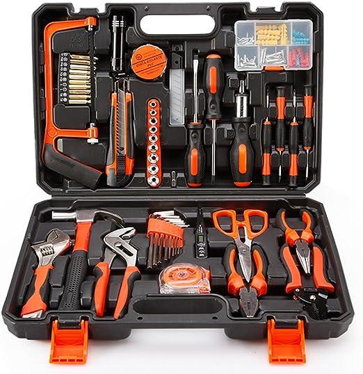 ZXZ-GO Kit de herramientas, herramientas de precisión Juego de herramientas para el hogar casero de 102 piezas con alicates y martillo en estuche - Grandes regalos para damas: Amazon.es: Jardín