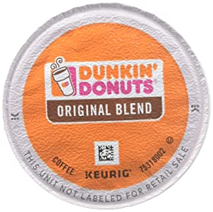 Dunkin' Donuts 0845 Original Blend Coffee K-Cup Pods Medium Roast 96/CT