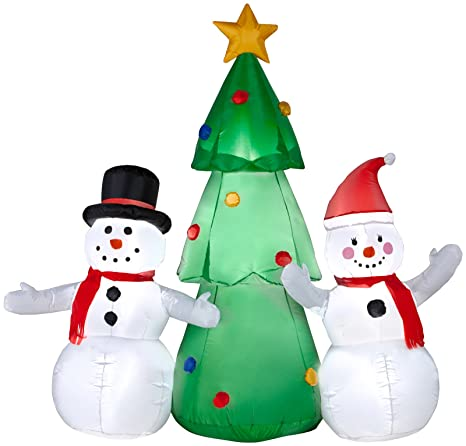 Gemmy Industries Airblown Snowman Family Christmas Decoration Multicolored  Nylon 24.21 in. x 16 - Amazon.com : Gemmy Industries Airblown Snowman Family Christmas