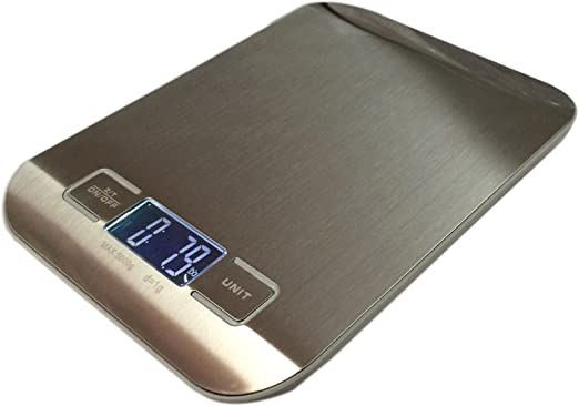 5kg//1g Digital Electronic LCD Scale Stainless Steel for Kitchen Food Diet Weight