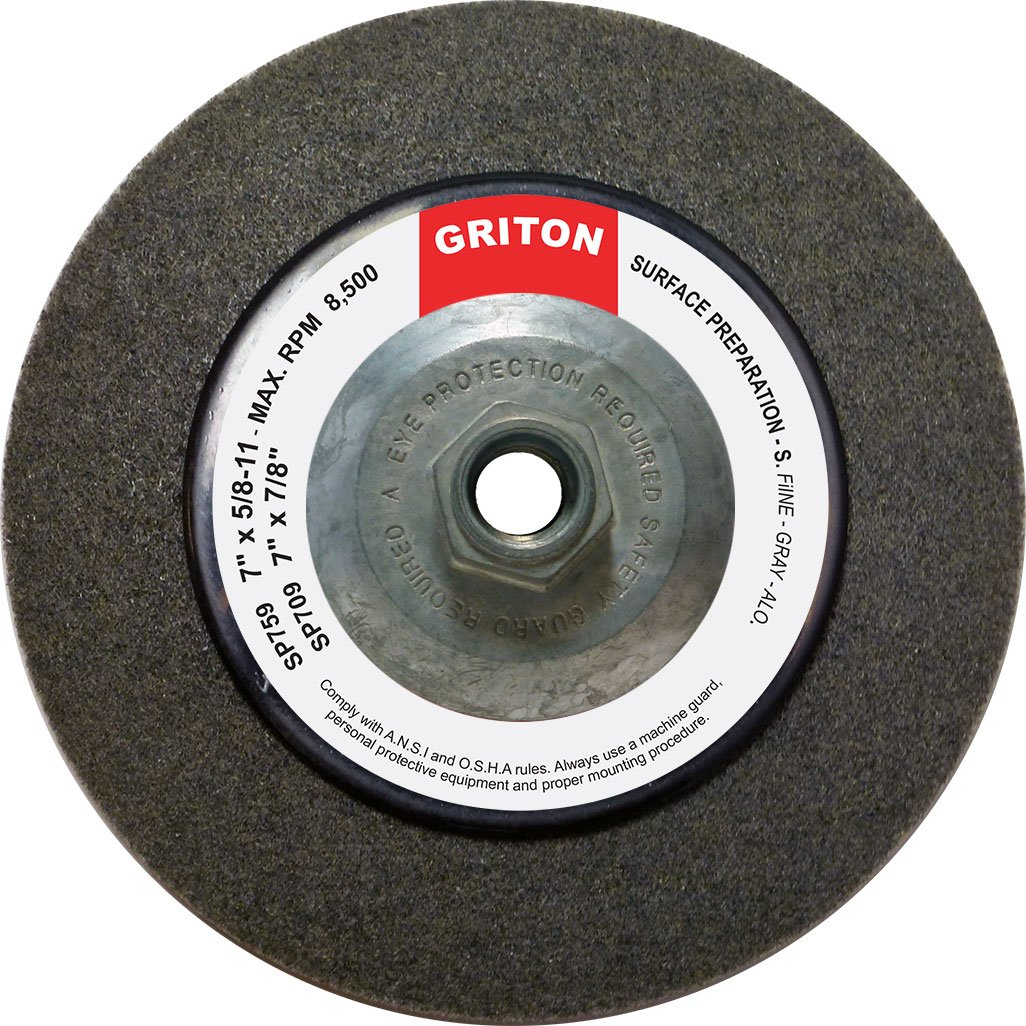 4-1//2 x 5//8 4-1//2 x 5//8 Griton SP469 Hub Silicon Carbide Super Fine Surface Preparation Wheel Pack of 10 Pack of 10