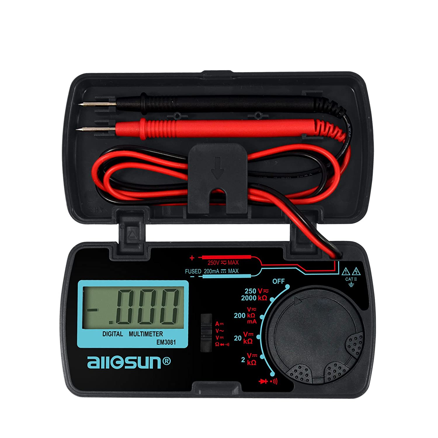 All Sun Digital Multimeter Dmm Multi Tester Amp Ohm Volt Meter Diode Measurements Electronic And Continuity Test Pocket Size
