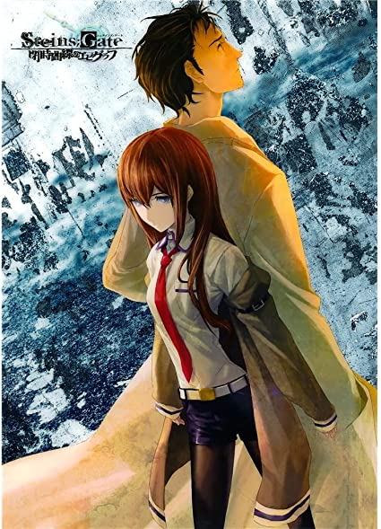 monty arts steins gate poster by silk printing size about 60cm x 84cm 24inch x 34inch unique gift 18e3c5