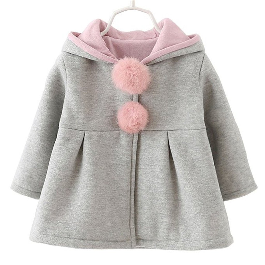 JELEUON Kids Baby Toddler Girls Cute Fall Winter Big Ears Hoodies Coat Jacket Outwear