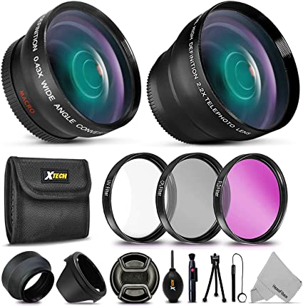 58mm Accessory Kit for Canon EOS 77D 80D 760D and 1300D