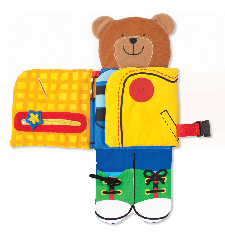 Dress Up Bear 9206 Melissa /& Doug Soft Activity Baby Book