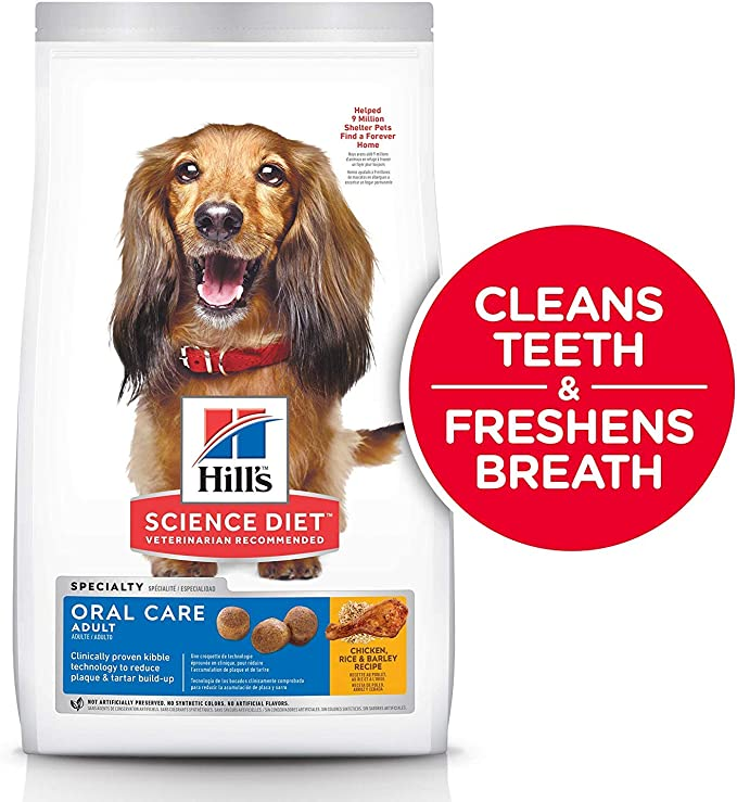 Hill's Science Diet Adult Oral Care Dog Food - Best Overall Dog Food for Halitosis