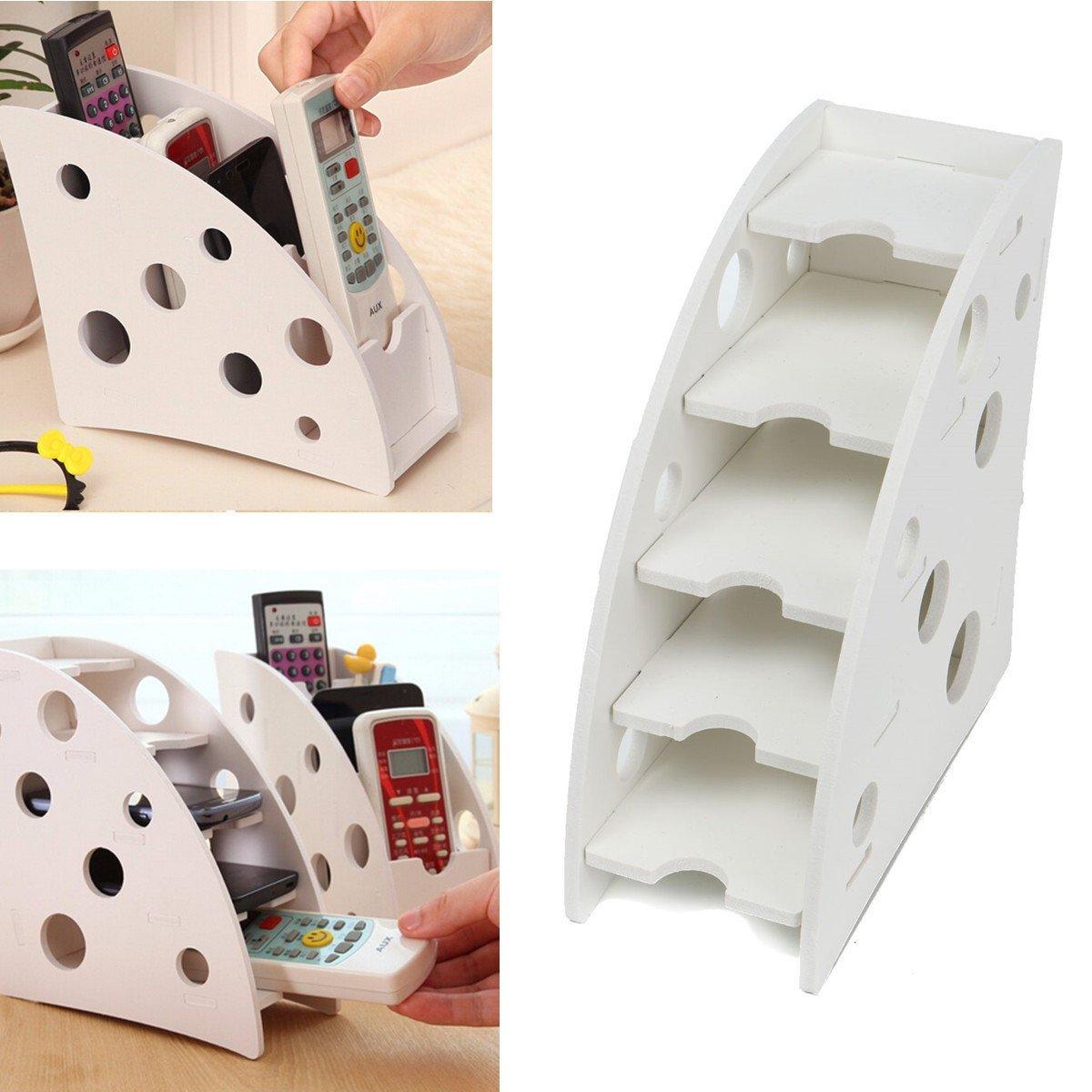 C&C Products Environmentally Wood Plastic Board Pen Phone TV Remote Control Holder Desktop Decal Decoration DIY Storage Box