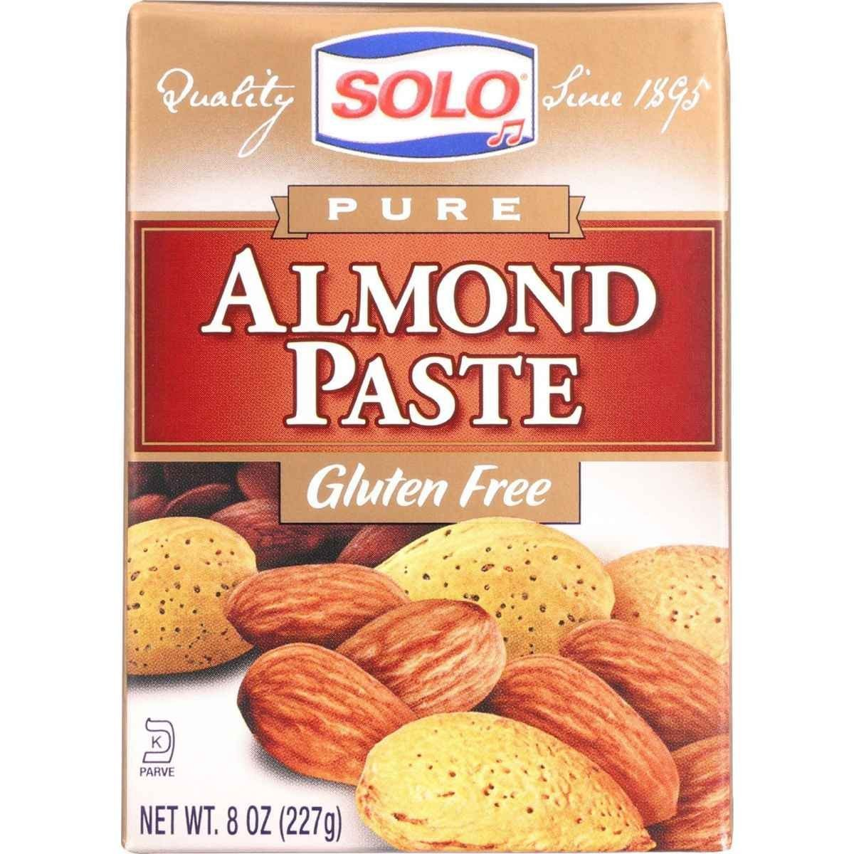 Solo Foods Almond Paste Pure, 8 oz. Pack of 12 by Solo Foods