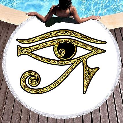 Amazon.com : WLEZY Beach Towel Printed All-Eye Microfiber ...
