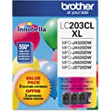 Brother LC203CL Ink Cartridge - Cyan, Magenta, Yellow - 1 Each