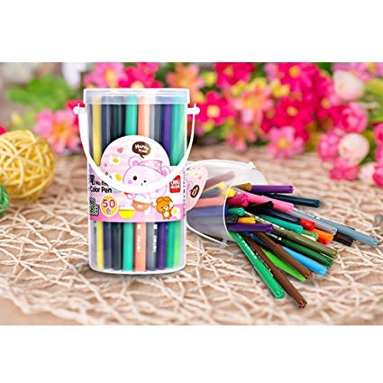 Amazon.com: Happlee Washable Watercolor Pen with Water-based Colored ...