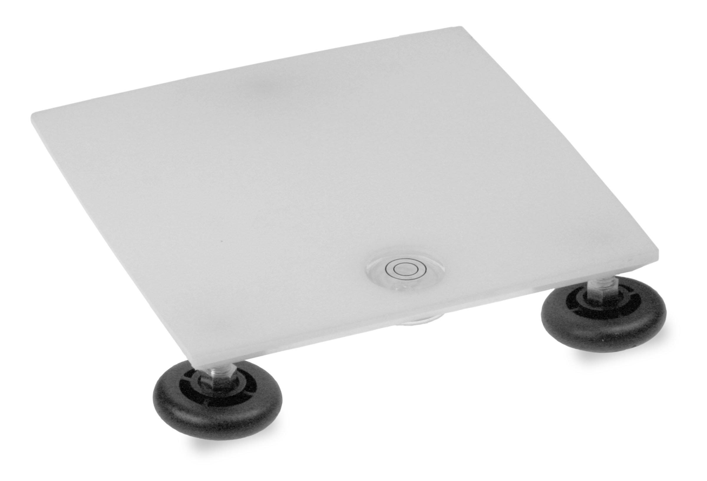 TrippNT 50602 Polyethylene Leveling Table, 8'' Width x 1'' Height x 8'' Depth, White