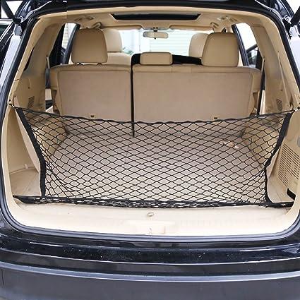 15u0026quot;x34u0026quot; Car Trunk Storage Net-Elastic Nylon Cargo Storage Mesh Net Universal & Amazon.com: 15
