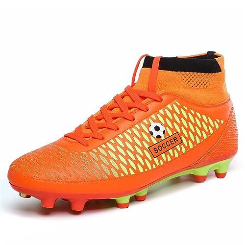 Zapatillas ligeras para fútbol, con tacos, color naranja, talla 43: Amazon.es: Zapatos y complementos