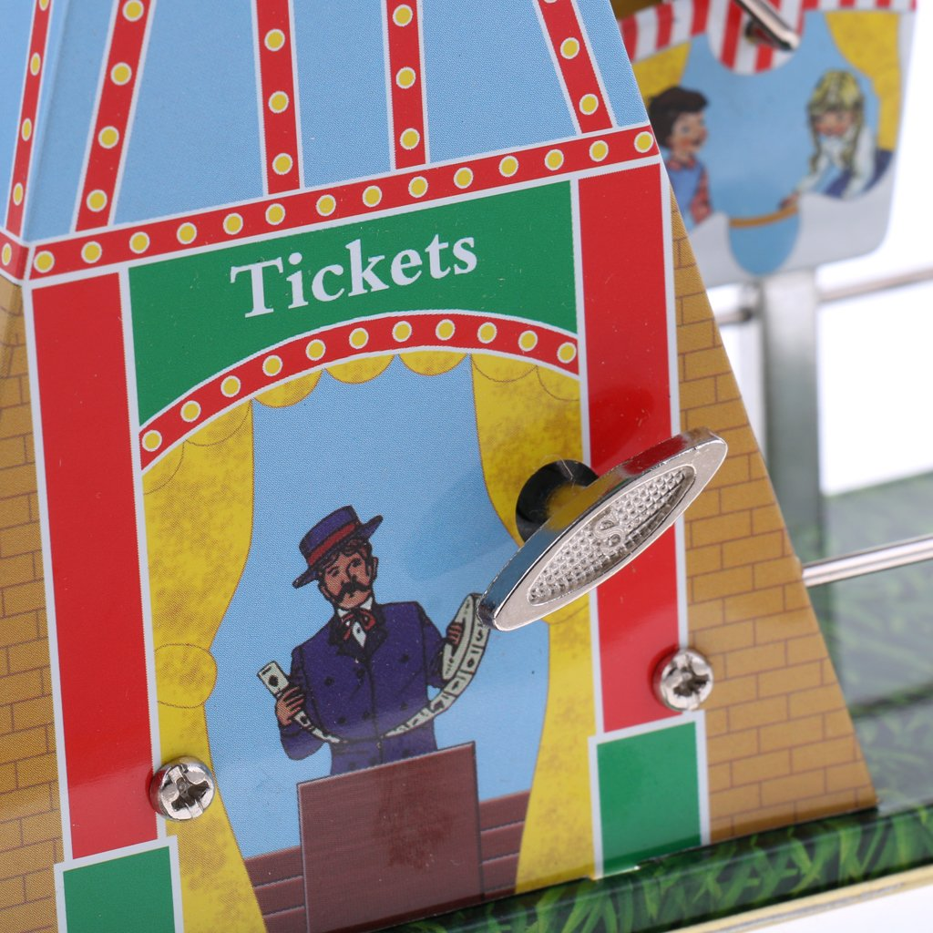Dovewill Retro Wind up Spinning Ferris Wheel with Music Movement Clockwork Metal Tin Toy Collectible Gift by Dovewill (Image #5)