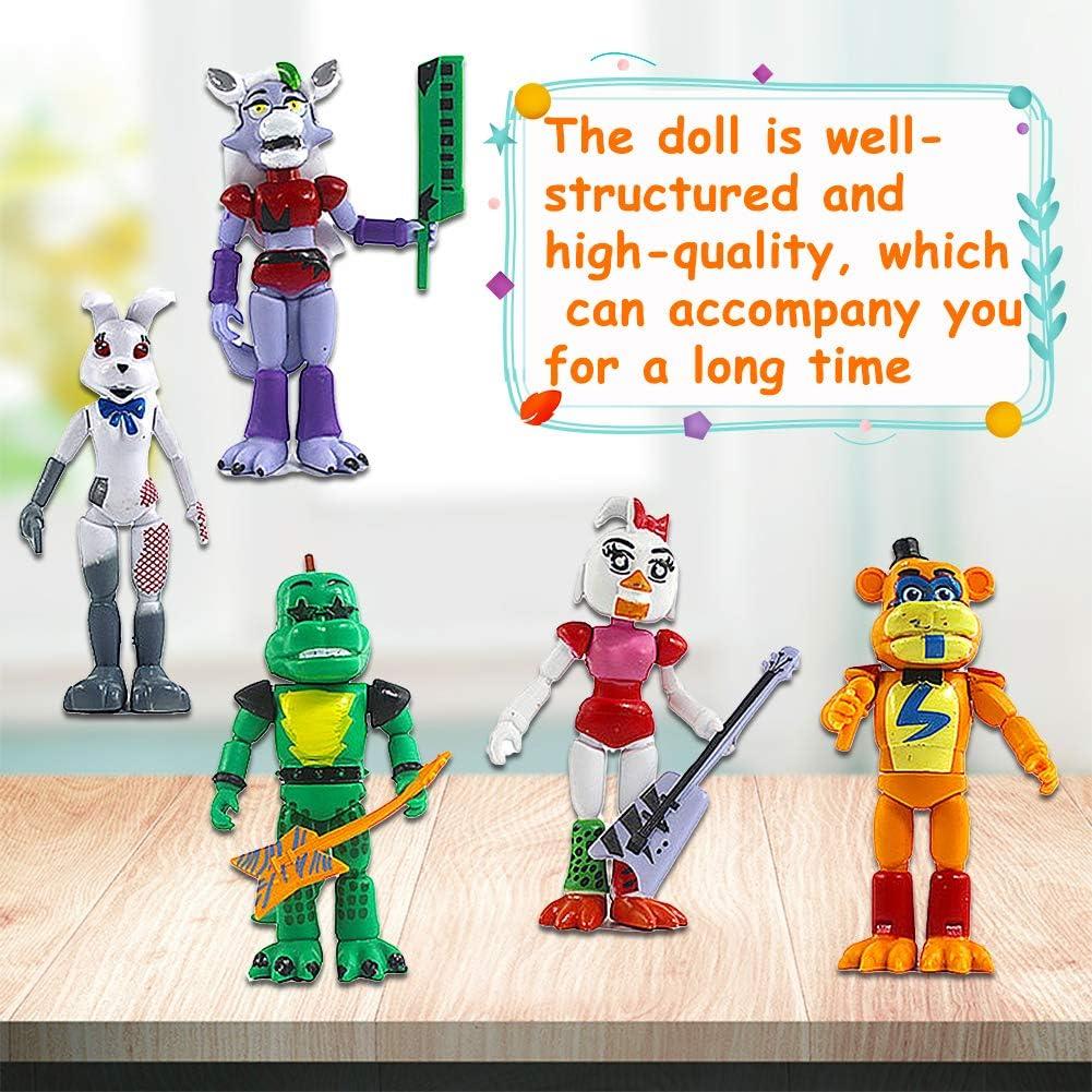 Five Nights At Freddy Modelo de decoraci/ón Modelo de personaje animado Regalo 5 pulgadas BESTZY 5pcs Five Nights at Freddys