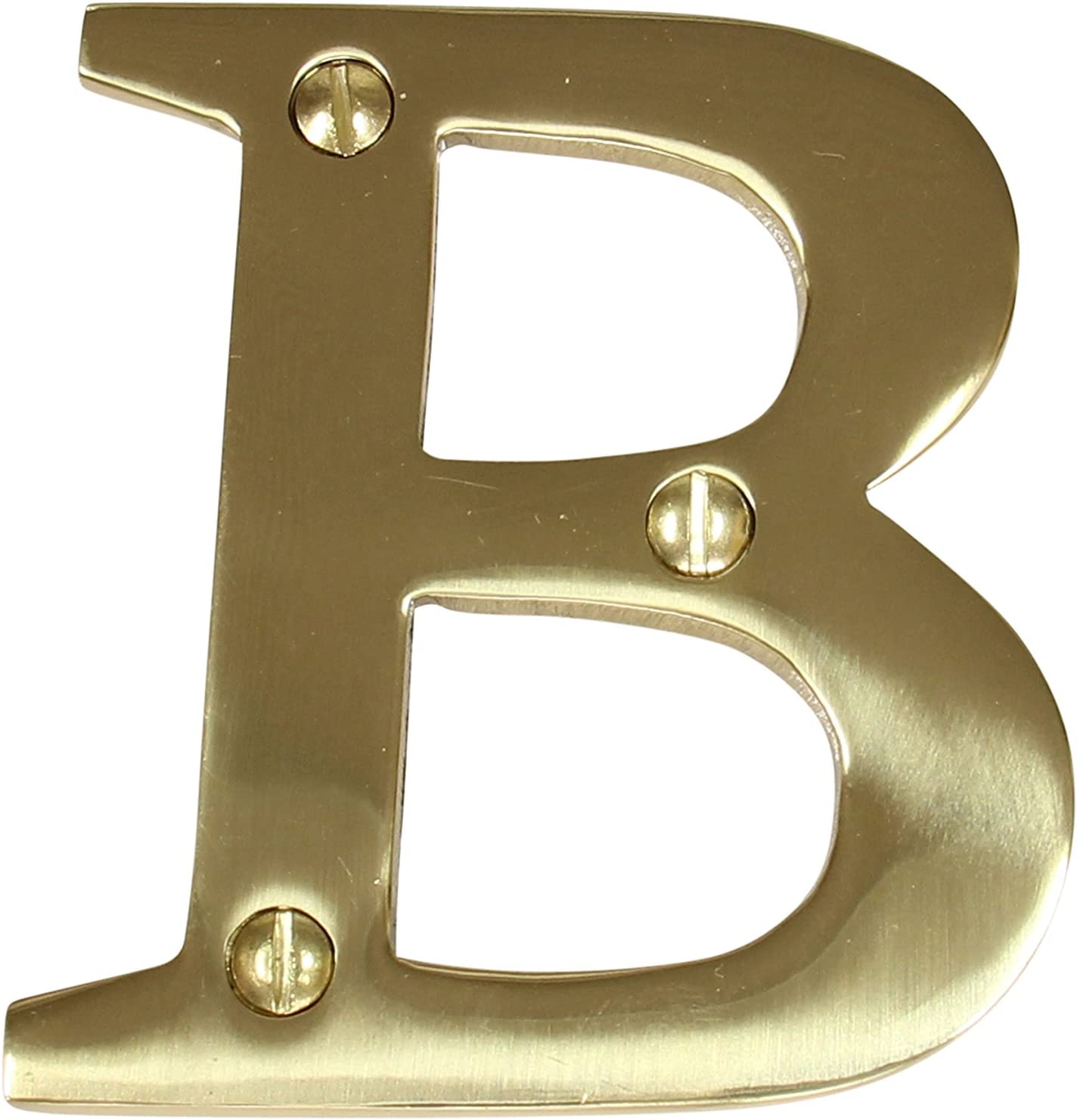 RCH Hardware LT-BR2350-75 Brass House Letter, 3 Inch, Polished Brass