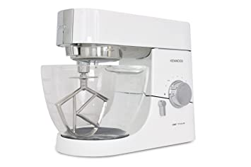 Kenwood KMC 015 Chef - Batidora amasadora con recipiente de cristal (1400 W), color blanco brillante: Amazon.es: Hogar