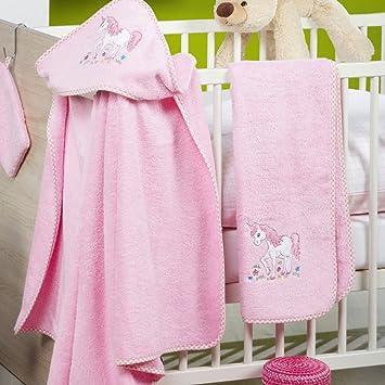 Ross Niños Baby, capucha en distintos motivos Unicornio Toalla de mano de toallas (50 x 70 cm: Amazon.es: Hogar