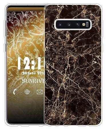 Sunrive Für Samsung Galaxy S10 Hülle Silikon, Transparent Handyhülle Luftkissen Schutzhülle Etui Case für Samsung Galaxy S10(