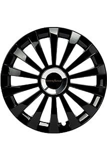AUTOSTYLE RST Black Juego de 4 Tapacubos RS-T 13 Pulgadas Negro: Amazon.es: Coche y moto