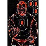 Birchwood Casey Shoot-N-C Bad Guy Silhouette Target (Pack of 12), 12 x 18-Inch, Pink