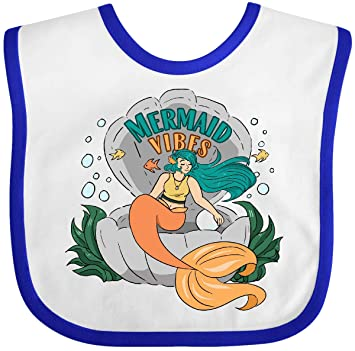 inktastic Mermaid Vibes with Orange Mermaid in Shell with Fish Toddler T-Shirt