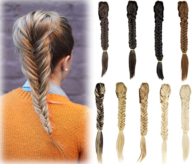Florata 21 Claw Jaw Braiding Hair Clip In Hair Extensions Synthetic