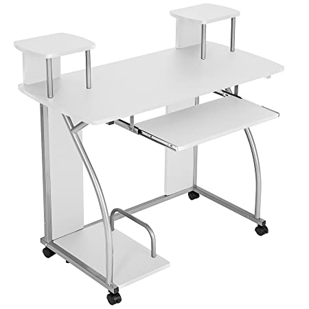 computer desk office works. TecTake Computer Desk Work Table Youth Student Office Station Furniture White Works