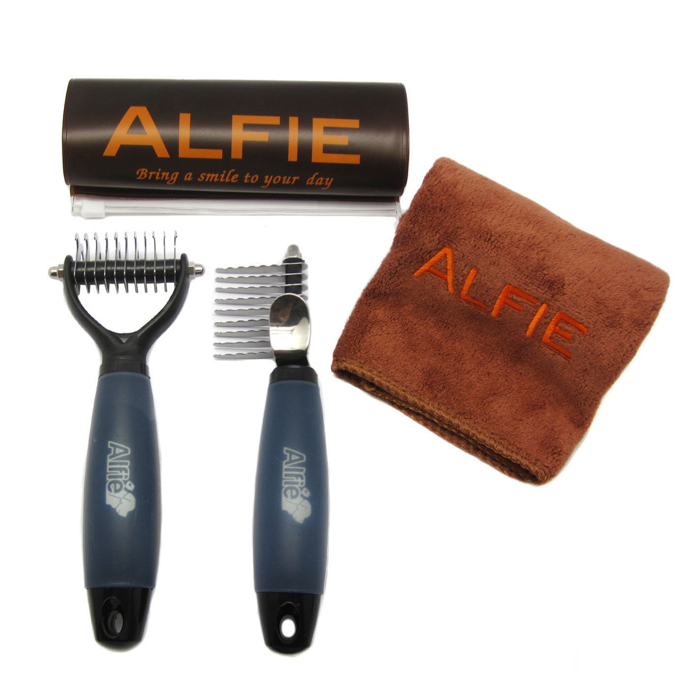 Alfie Pet by Petoga Couture - Devin 2-piece Home Grooming Set - Demat Comb and Mat Breaker (Specifically for Dematting)