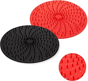 Reusable Air Fryer Liners with Raised Silicone | Patented Product | BPA Free Non-Stick Silicone Air Fryer Mats | Air Fryer Silicone Tray Accessories | 2 Size Options – 8 Inch Round