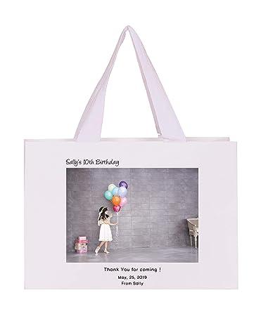 Amazon.com: Bolsa de regalo personalizada para fotos con ...