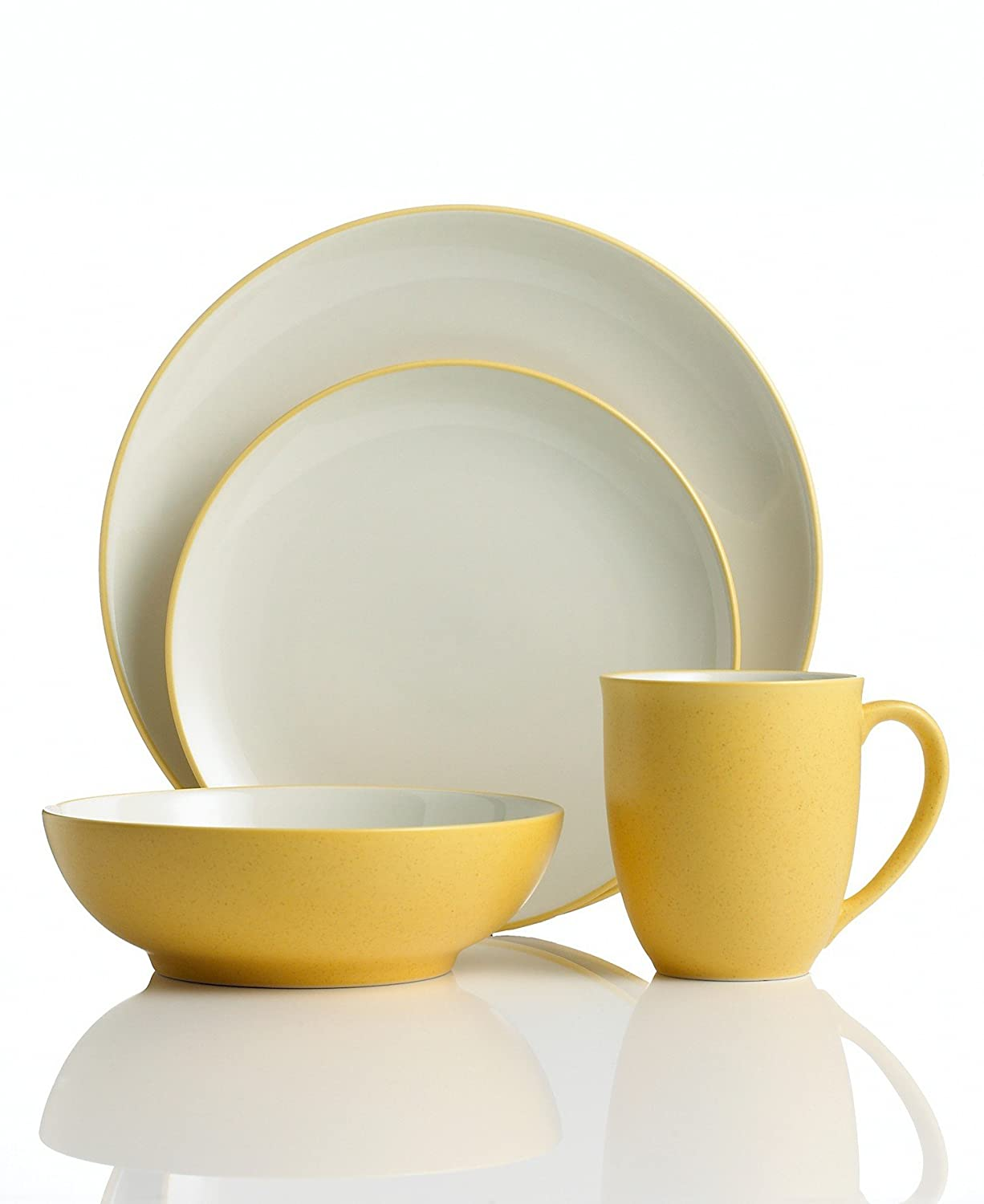 Amazon.com | Noritake Colorwave Mustard 4-Piece Place Setting Dinnerware Sets Dinnerware Sets  sc 1 st  Amazon.com & Amazon.com | Noritake Colorwave Mustard 4-Piece Place Setting ...