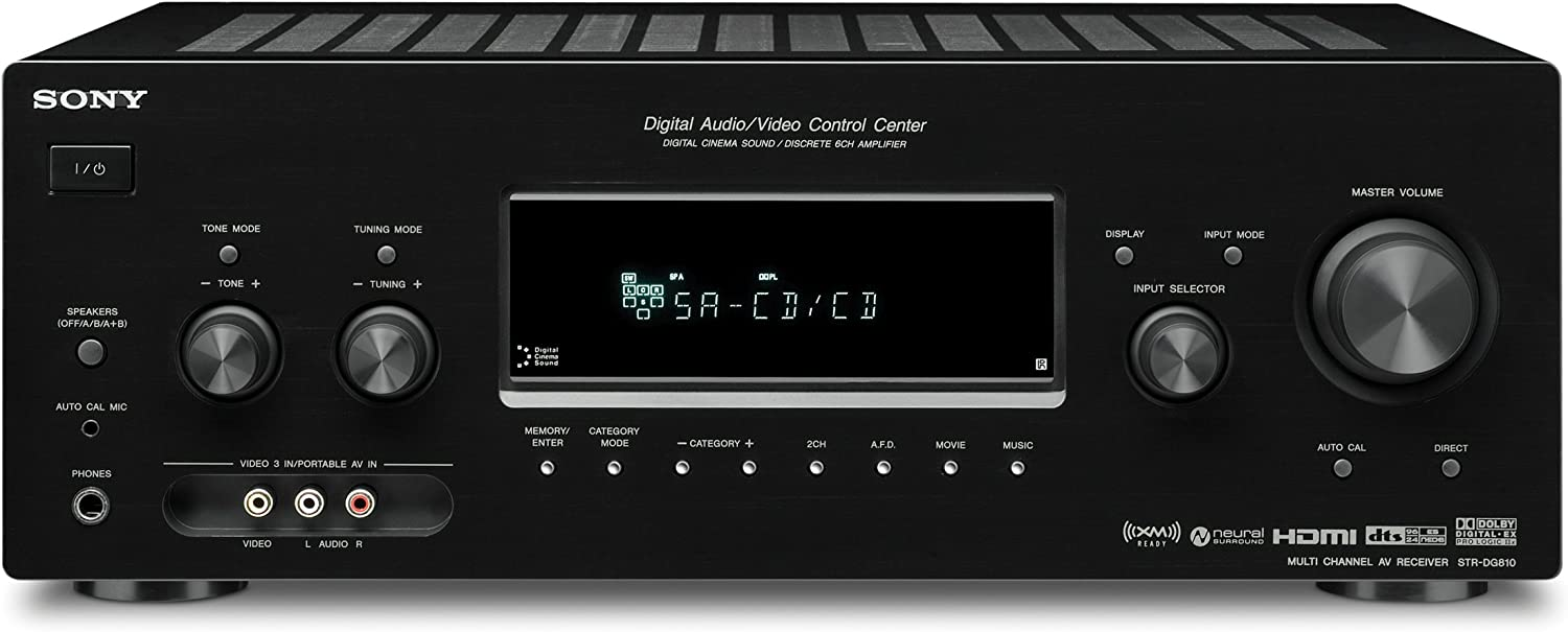 Sony STR-DG810 6.1 Channel Home Theater Receiver (Discontinued by Manufacturer)