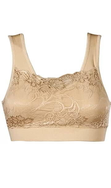 cc7555bf98 NEW MILANA BRA BY GENIE As Seen On TV Seamless Lace Bra (BEIGE L) at ...
