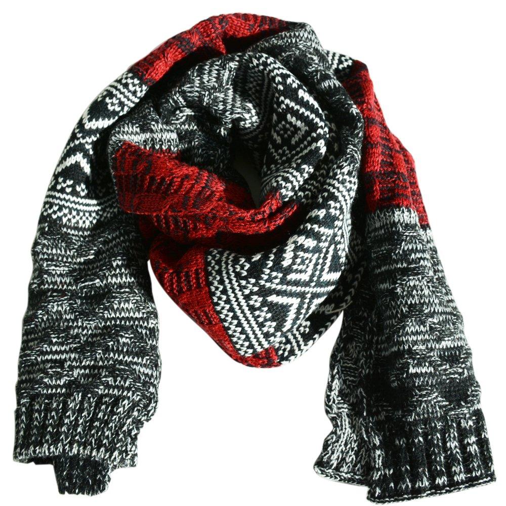 Bufanda Invierno de Punto de Moda - Bufanda Foulard Tejida Larga Grande de Cuello para Hombre Mujer Unisex 10098