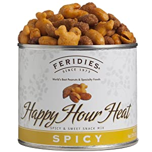 FERIDIES Happy Hour Heat Snack Spicy Mix - 9oz Vacuum Sealed Can