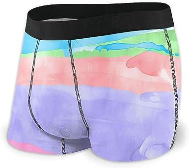 Colorful Watercolor Boxer Briefs Pastel Stripes