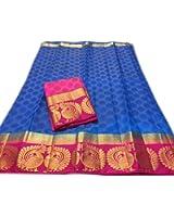 Nirja Creation Multi Color Fancy Party wear Cotton Silk Saree (6 Color)