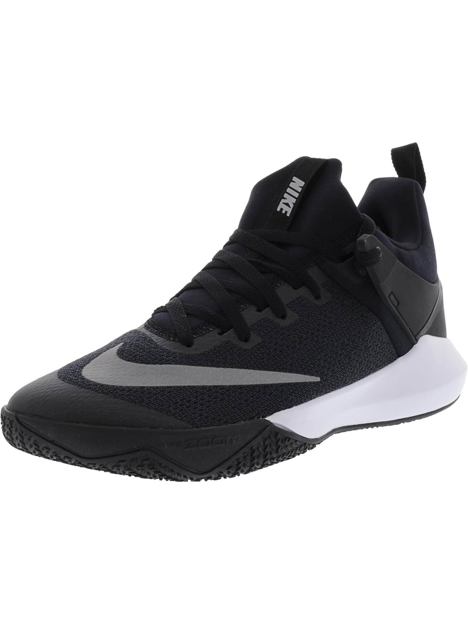 46e7c2bbf18 Galleon - Nike Men s Zoom Shift Tb Black White Ankle-High Mesh Basketball  Shoe - 9.5M